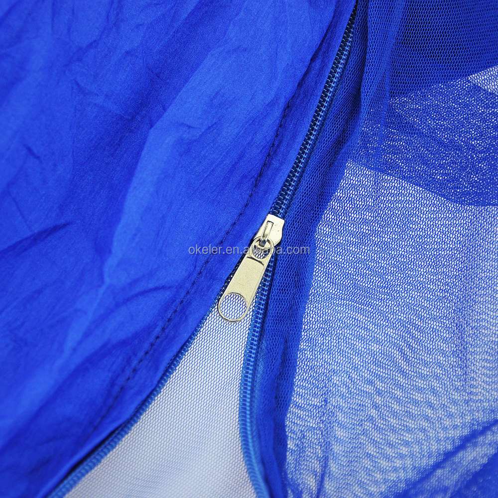 Travel Camping Blue Parachute Nylon Fabric Jungle Hammock Outdoor Furniture Toy Hammock for Single Person