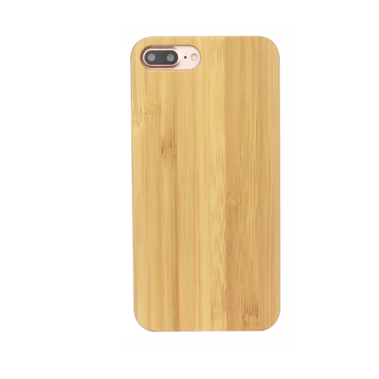 Cheap Custom Logo Mobile Phone Cases Real Bamboo Wood Back Cove For Iphone 8