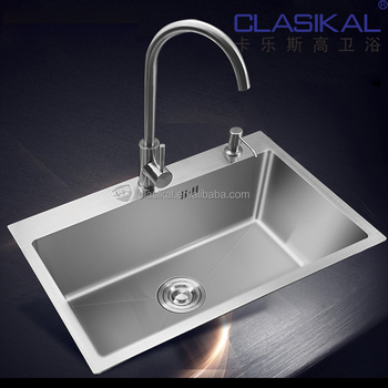Strong Quality Hand Made 304 Stainless Steel Kitchen Sink Custom Size German