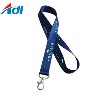 top quality company logo safety clip lanyard for badge