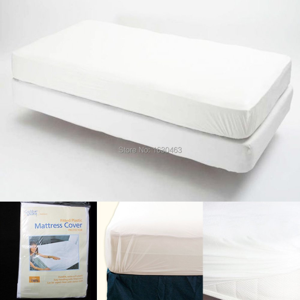 Get Quotations · USA Mattress Size Twin/ Full/Queen/King Classical Smooth  Waterproof Mattress Protector Cover
