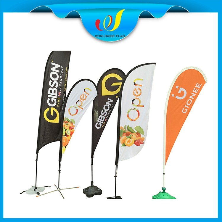 Custom Advertise Trade Show Commercial Tear Drop Teardrop Roadside Banner For Market