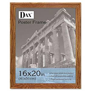 """Dax - Plastic Poster Frame Traditional Clear Plastic Window 16 X 20 Medium Oak """"Product Category: Office Furniture/Frames & Plaques"""""""