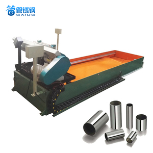 Automatic Stainless steel pipe making machine with metal band-saw cutting machine