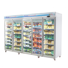 5 door Glass Swing Door Merchandiser Refrigerator / freezer for ice cream used for US standard