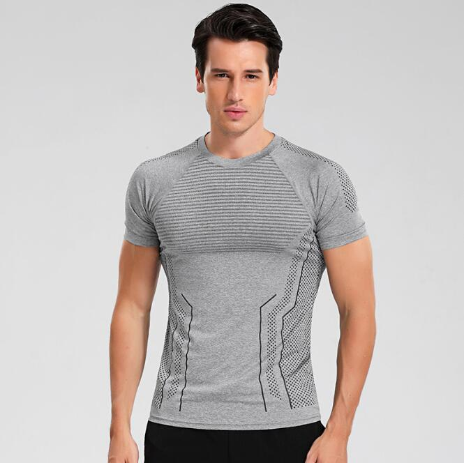 2017 Instyles Super Soft Men O-Neck Sports Gym Blank Compression Shirts
