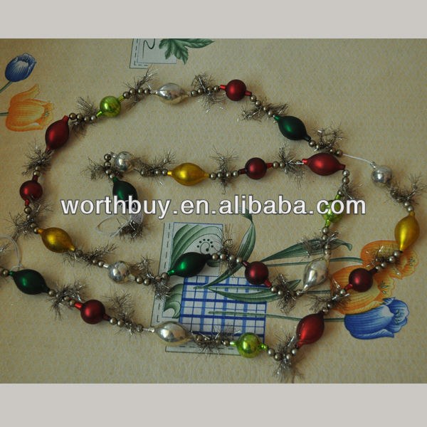 6 feet vintage christmas decoration garland from China factory