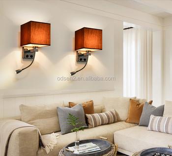 Contemporary Hotel Swing Arm Gooseneck Reading Wall Lamp Headboard Mounted Led
