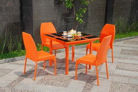Modern dining room or garden furniture set outdoor side chair and wicker 4 seater dining table designs