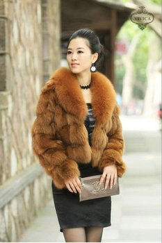 By-004 Fashion Short Style Fox Fur Jacket- Fox Fur Coat - Buy Fox ...