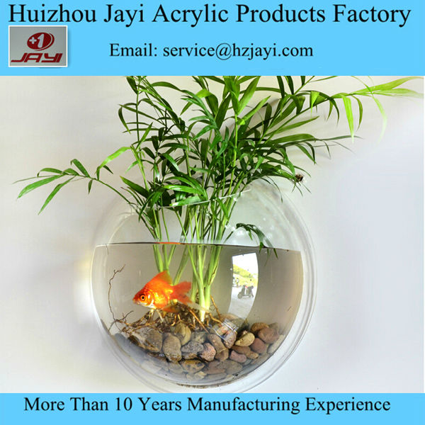 Factory Supply Small Wall Hanging Mounted Fish Bowl/round fish tank