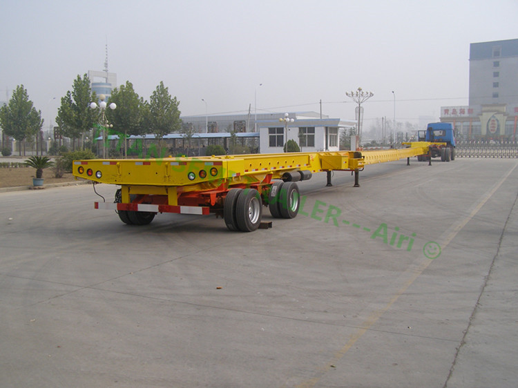 TITAN transport wind blade low bed extendable trailer