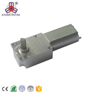 Mini 12v small worm gear motor 6V DC drive pwm electric 90rpm ET-WGM34A