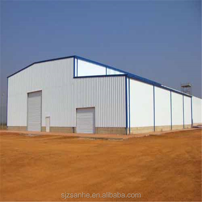 portal frame building prefabricated steel structure factory workshop warehouse sale
