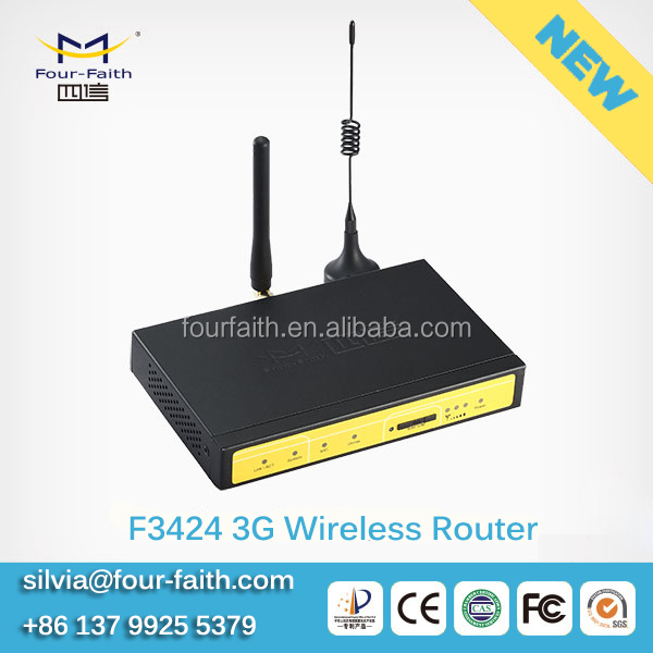 F3424 industrial 3G ethernet router rs485 wifi hotspot sim card for Kiosks, ATM, vehicle billing system