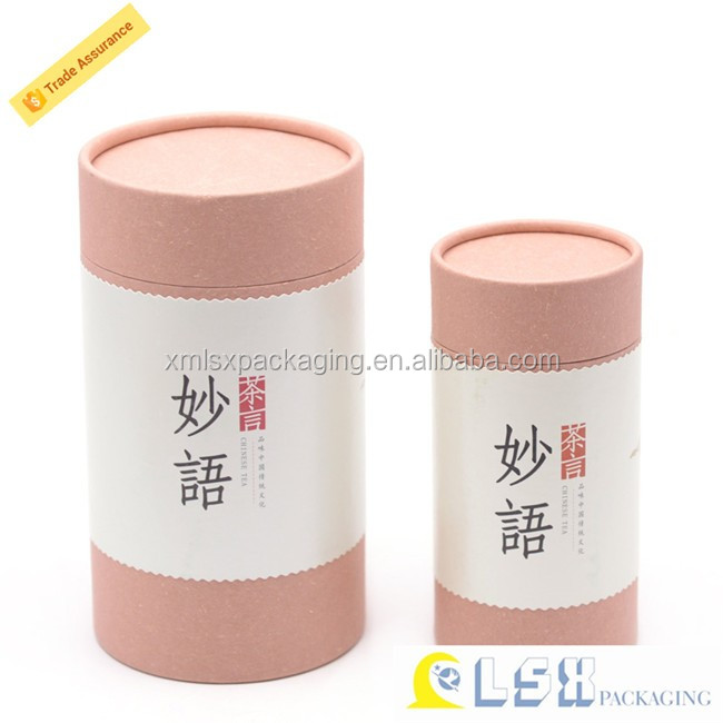 Top quality brown kraft paper tube,cylinder box,fancy round box