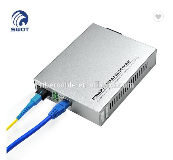 Up to 1000Mbps RJ45 to 1000M Single-Mode SC Fiber MC210CS TP