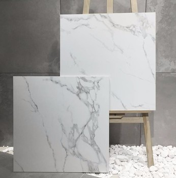 24x24 White Marble Look Polished Porcelain Tile Price