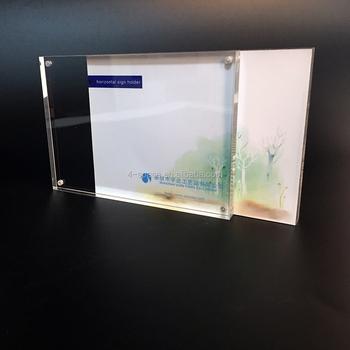 Acrylic Gallery Frames Double Sided Clear 3x4 4x6 5x7 Acrylic