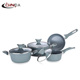 7pcs aluminum forged cookware set in kitchen with Stone Coating