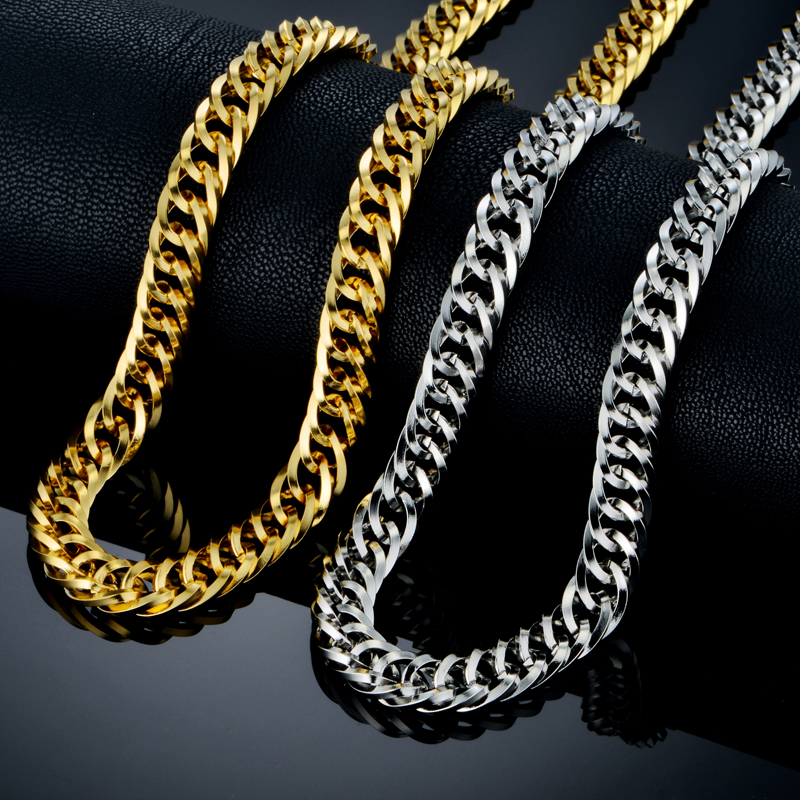 2017 Hip Hop Jewelry Wholesale High Quality Stainless Steel Dubai Miami  Cuban Link New Gold Silver 47bfb9797