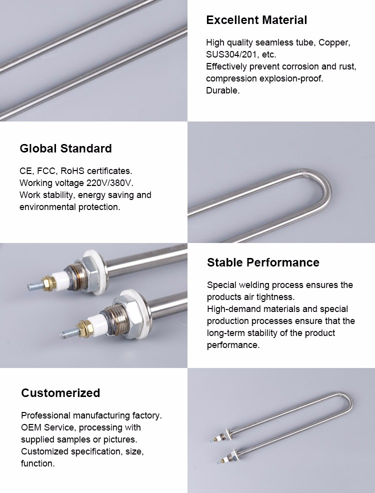 Electric Water Stainless Steel Tubular Heating Tube