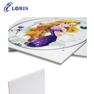 Factory price white coroplast sheet corflute yard sign with h stake