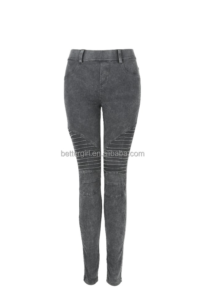 ladies cotton moto leggings high strech bettergirl hot sale style jeans 2017