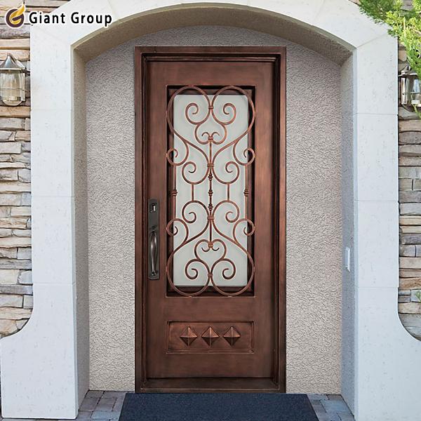 Alta calidad entrada de hierro principal doble puerta de - Puertas de metal para casas ...