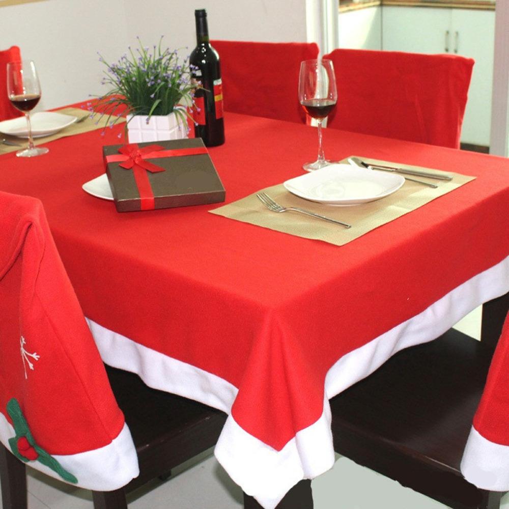 christmas tablecloth set pcs chairs cover and pc table cloth manteles para mesa navidad