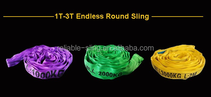 Heavy Duty Endless Soft Polyester Round Sling