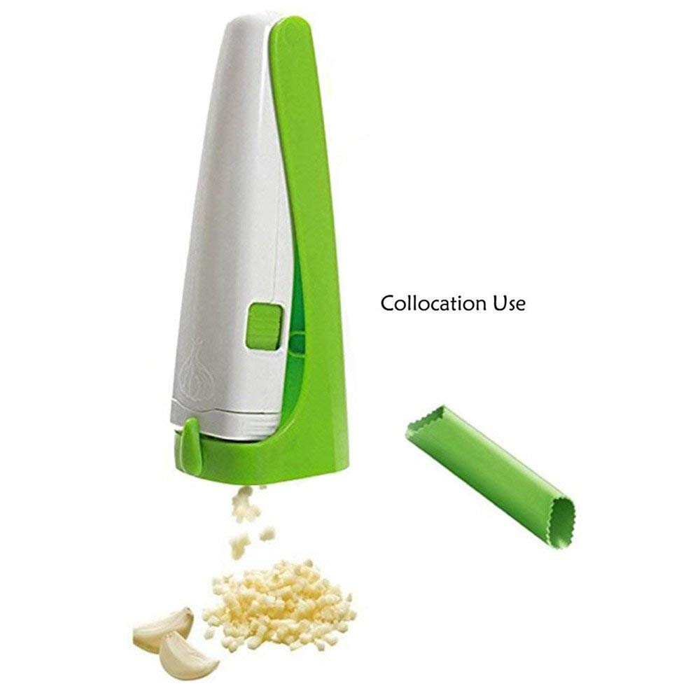 Garlic Cutter Practical Garlic Slicer Garlic Grater Spice Grinder Peeler Set Garlic Press And Silicone Tube Peeler Slicer Vegetable Kitchen Tool