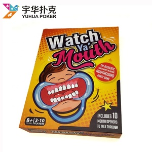 Manufacturers custom card game family watch mouth board game printing