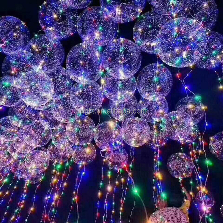 18 Inch transparence flashing Led light balloons bobo balloon led ballon light