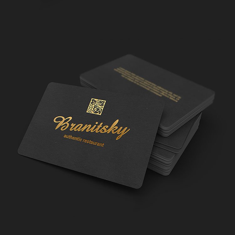 nice quality gold blind embossing die stamping pearl paper business card wholesale