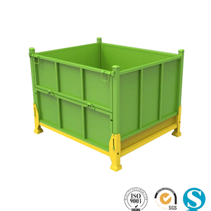 Storage stacking collapsible steel wire mesh steel pallet container
