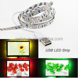 5m/roll USB LED Strip Light 5V SMD3528 Strip Light RGB Flexible tape ribbon TV Background lamp Strip