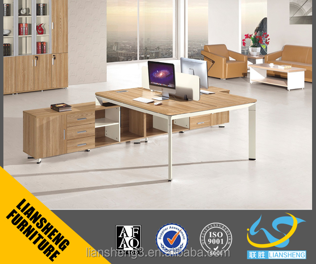 modular office workstation MFC material table with movable 3D pedestal