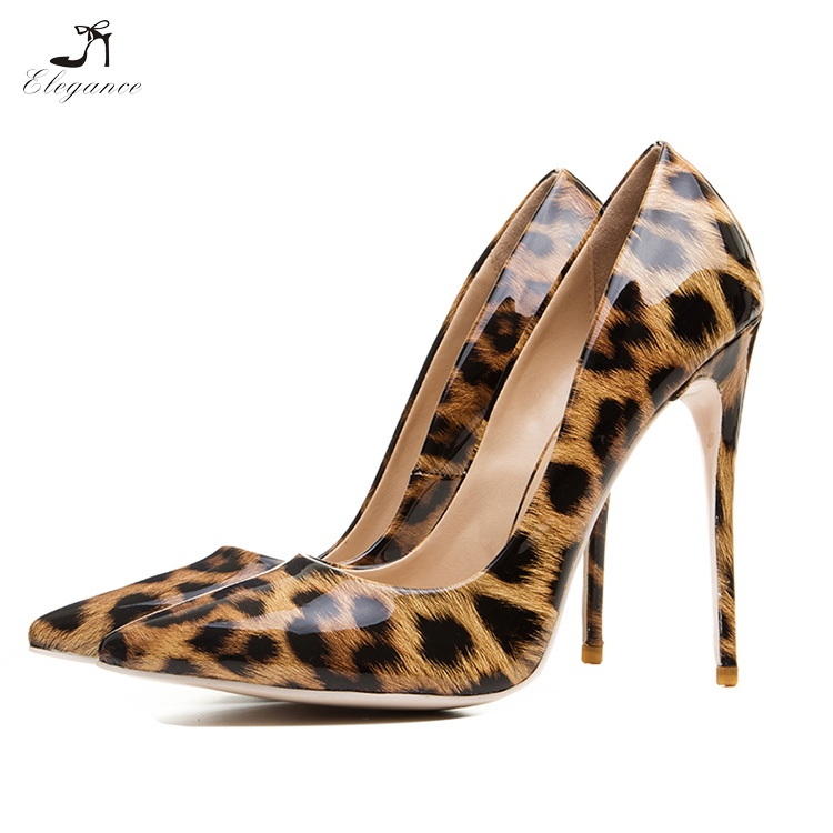 f2c7d04ebfa 2018 Trendy Women Sung Leopard Animal Printing Patent PU Stiletto High Heel  Pumps Dress Shoes