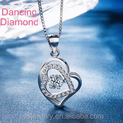Heart Pendant with Diamond in 14K Yellow /& Rose Gold-Plated Sterling Silver