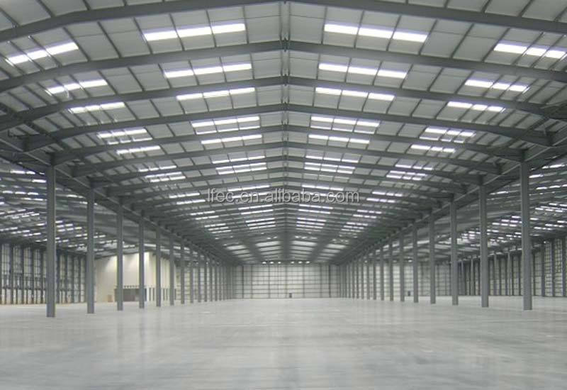 Large Span Weld H Beam Top Build Lightweight Steel Warehouse