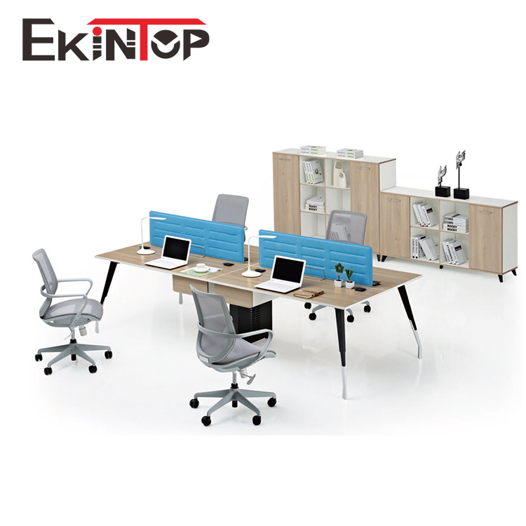 Supplies high end tech large executive two sided 4 person seater metal frame office desk