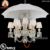 12 Light Baccarat Umbrella Chandelier in Black Color