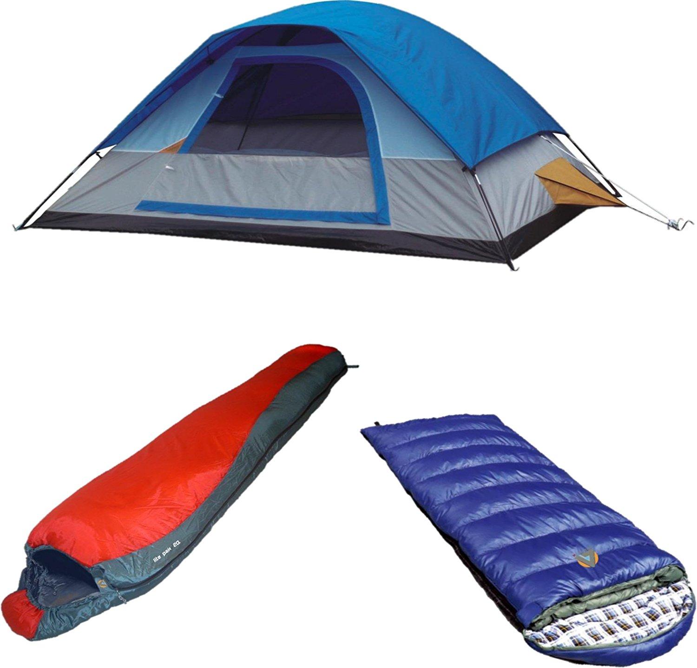 Get Quotations Alpinizmo High Peak Usa Kodiak 0 Lite Pak 20 Sleeping Bag With Magadi 5 Tent
