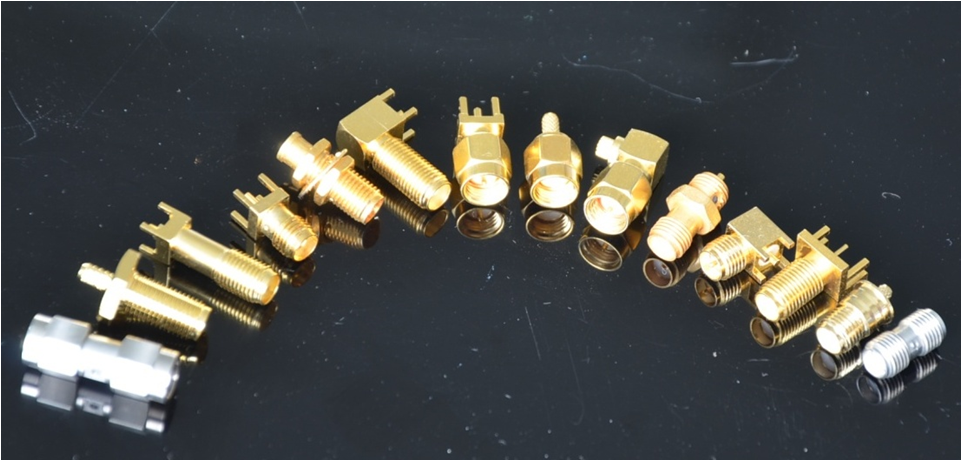 UL Approved SMA Female To BMA Female Adapter With 2 Hole Flange For PCB Mount