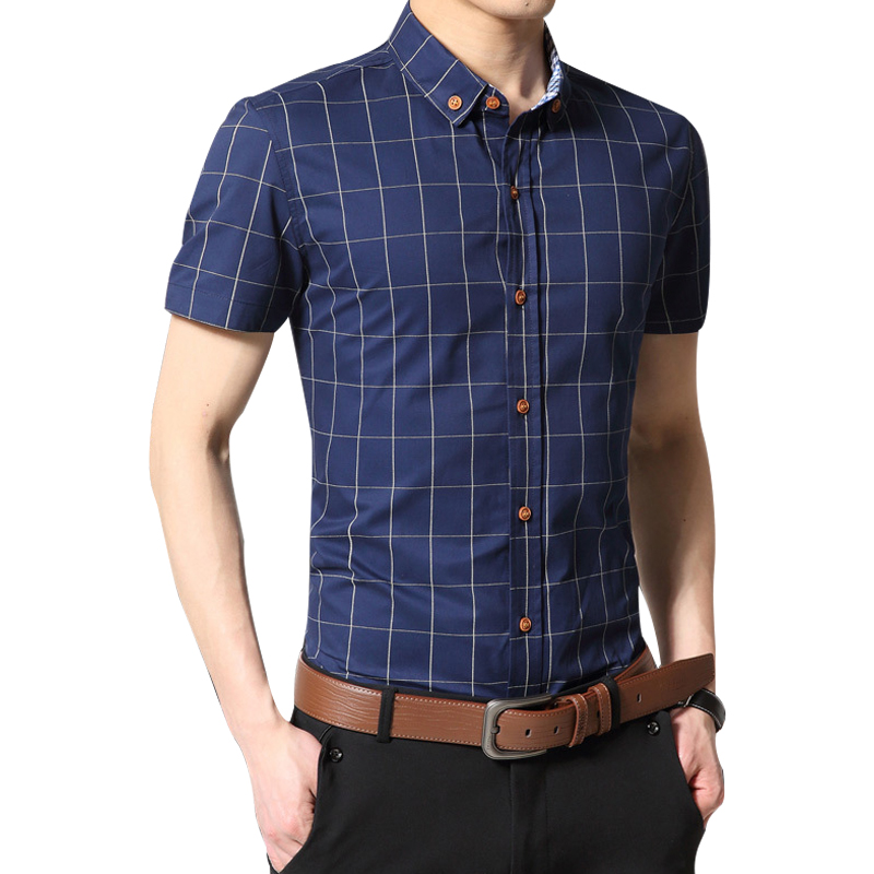 M/&S/&W Mens Slim Fit Plaid Stylish Patterns Long Sleeve Button Down Dress Shirts