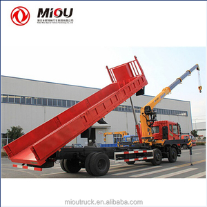 Hot 10 ton crane tipper truck 6x2 boom crane truck tipper crane for sale