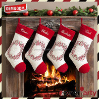 2017 Hot Sale Factory Price Custom Christmas Stocking Personalised