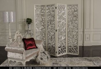 Hand Carved Silver 3 Panel Folder Wooden Screen Room Divider Buy