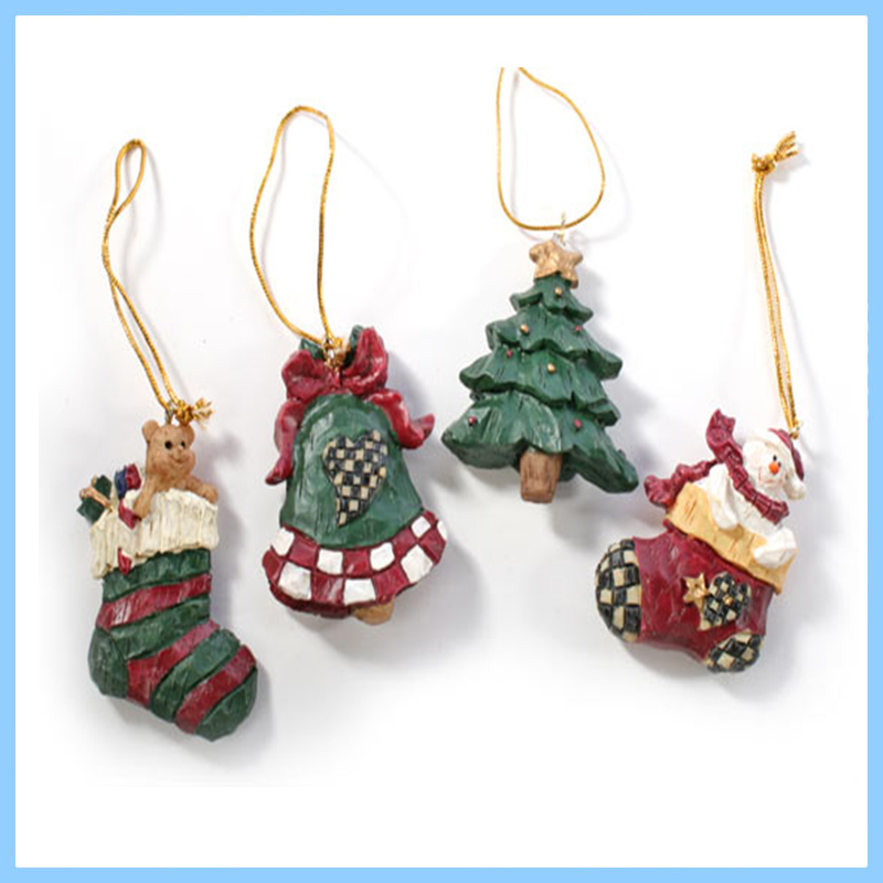 Resin Christmas Tree Hanging Flat Back Ornaments - Buy Flat Back ...